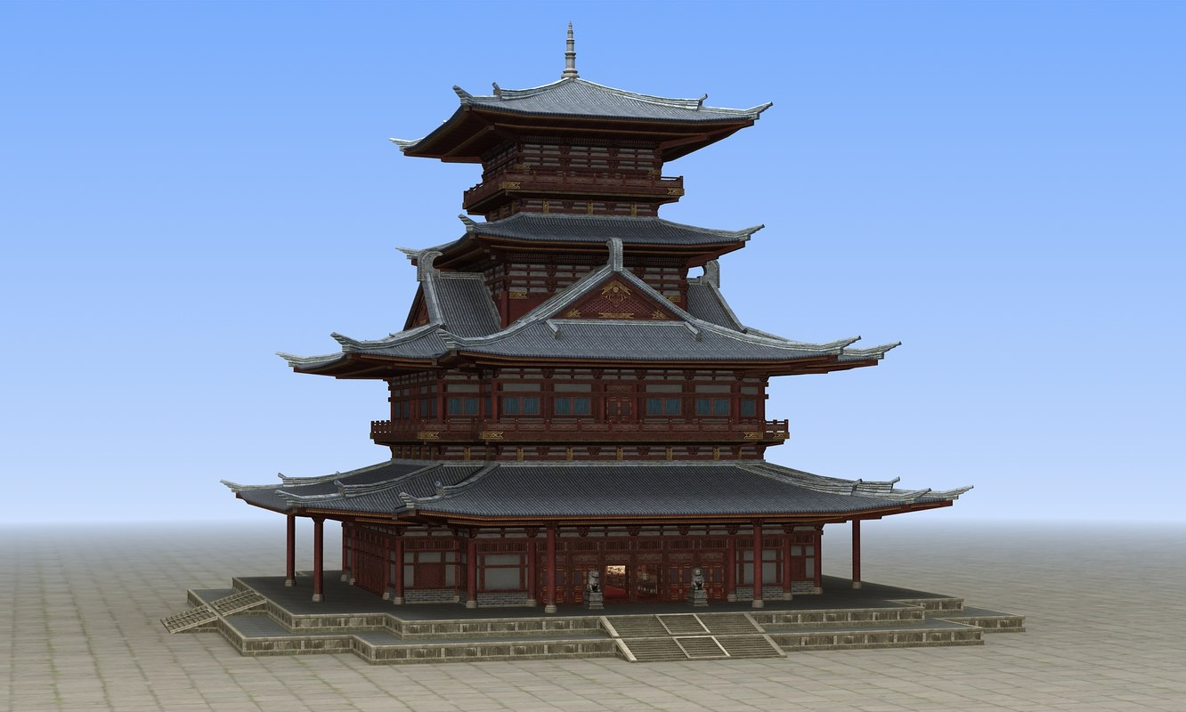 chinese ancient architecture model