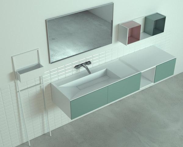 3D bathroom cabinet model