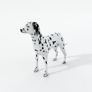 3D model dalmatian