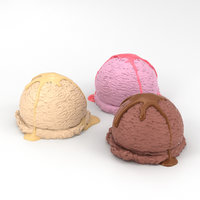 ice cream balls 3D model