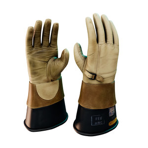 3D leather rubber insulated gloves