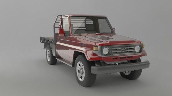 3D model 1991 toyota land cruiser
