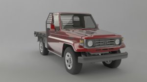 3D model 1991 toyota land cruiser