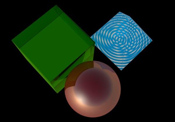 square sphere pyramid model