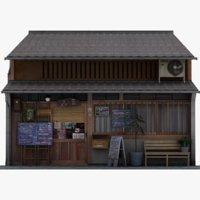 japanese store 3D model