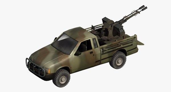 technical gun truck model
