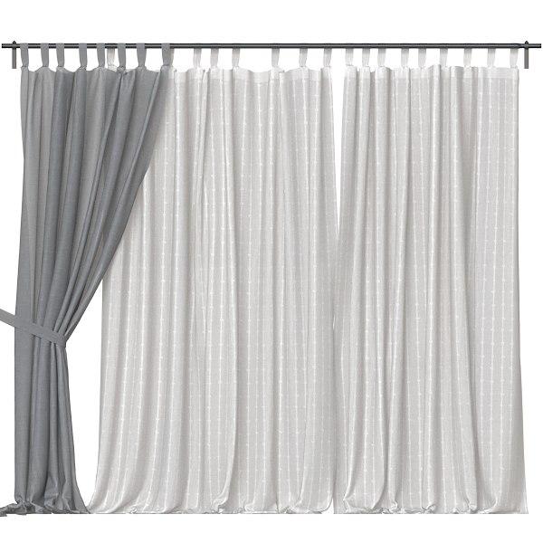 3D model curtains kitchen