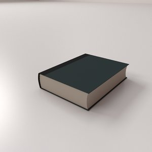 hardcover book 3D model