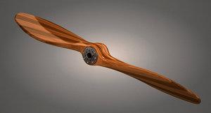 3D wooden propeller model