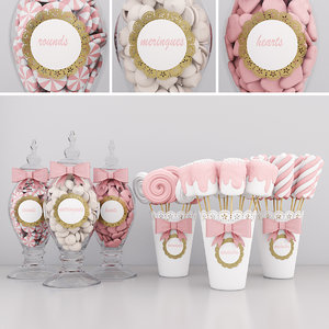 3D candy jars 2 model