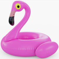 flamingo floating pool 3D