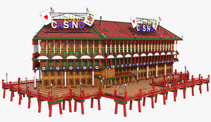 casino dock 3D model