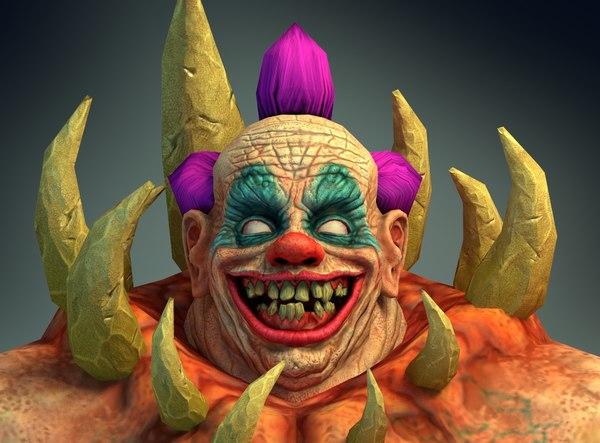 3D clowns creature