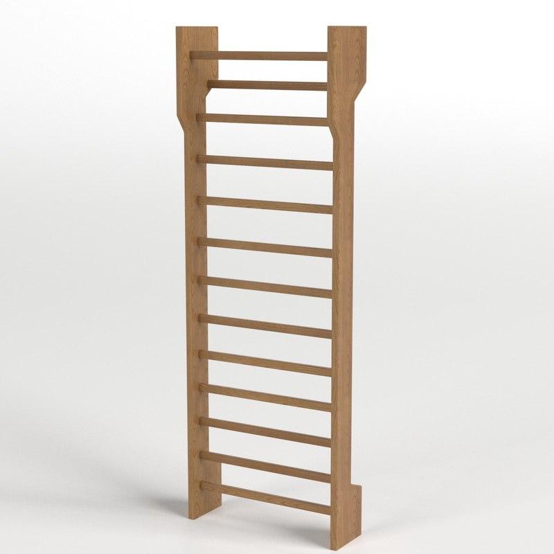 3D model gymnastic wall bars