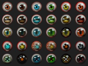 3D 30 human creature eyeball