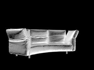 edra essential sofa 3D model