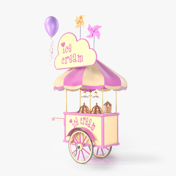3D ice cream cart model