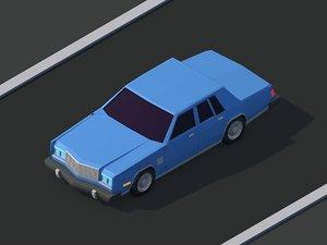 3D cartoon chrysler car