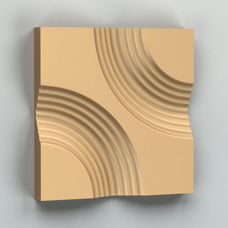 decorative wall panel 3D model