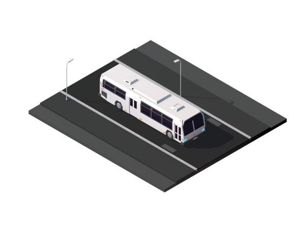 3D cartoon city road model