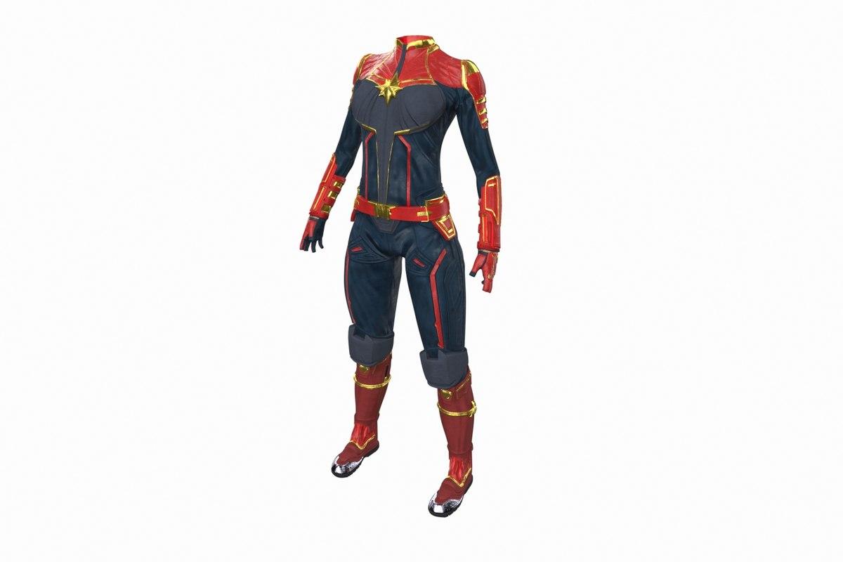 captain marvel suit model