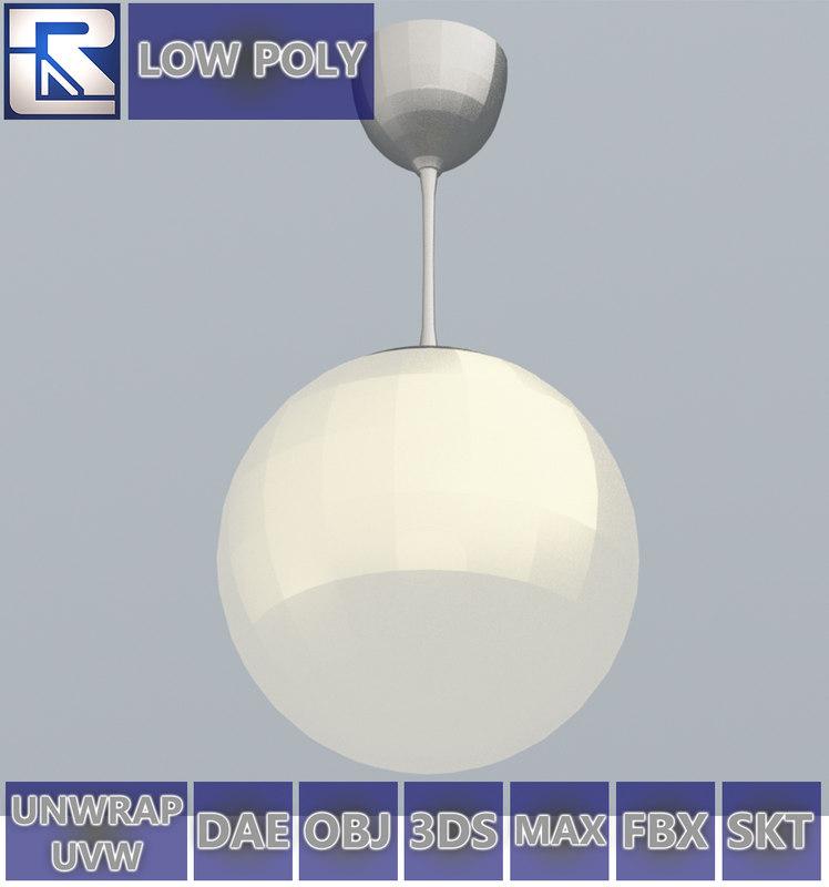 ceiling lamp vr 3D model