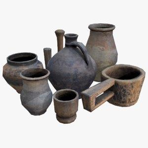 3D asset jugs