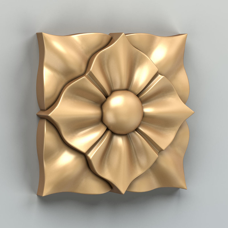 3D square rosette