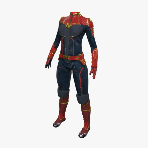 captain marvel suit model