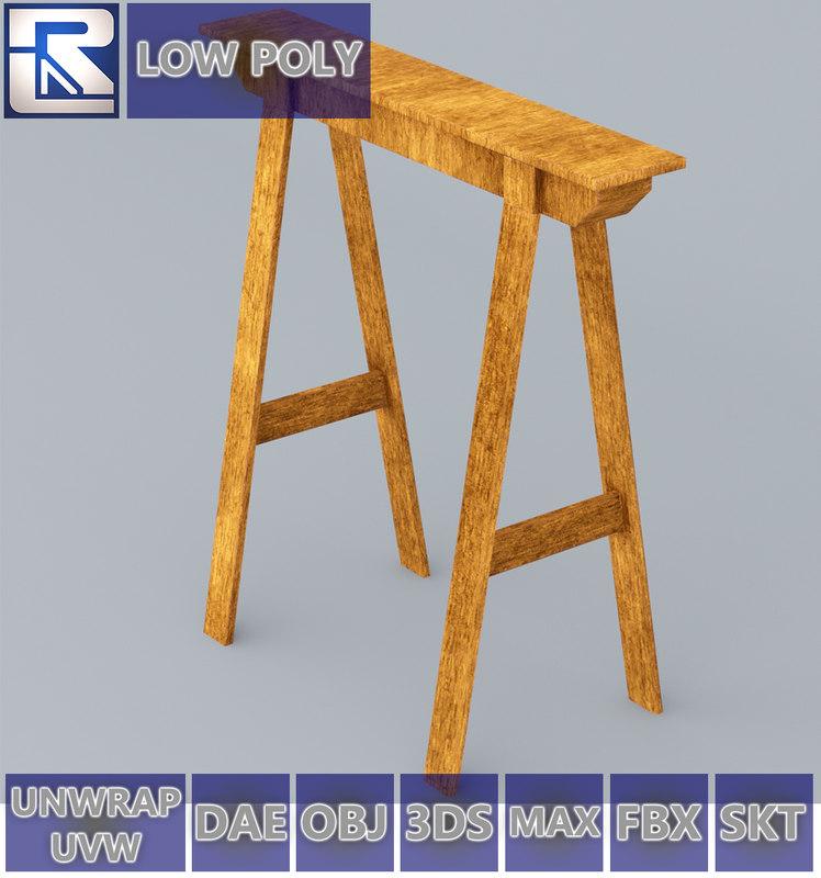 vr ar low-poly model