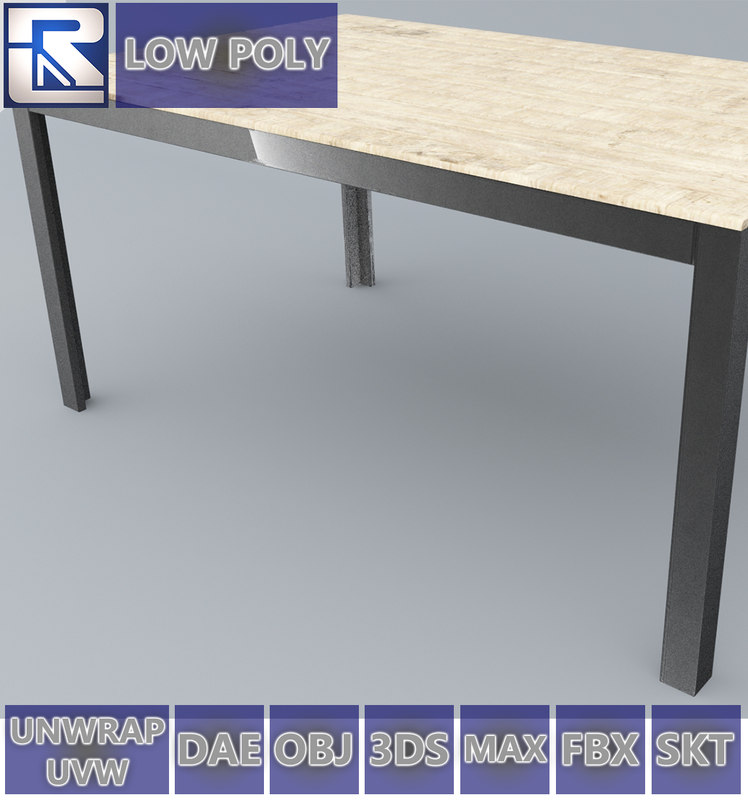 3D Falster Table Ikea Low Poly VR VR / AR / Low Poly 3D Model