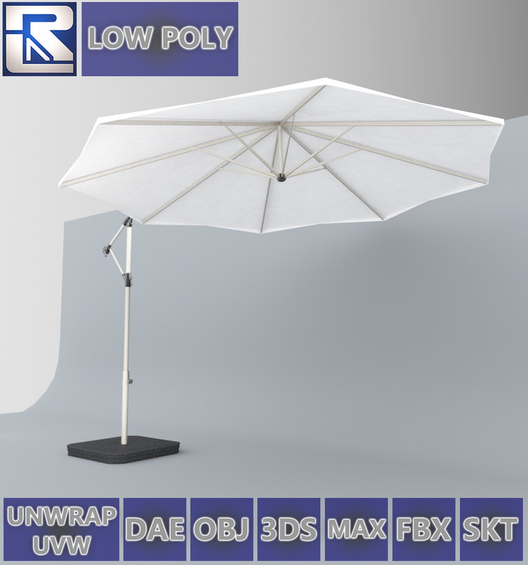 3D karlslo ikea outdoor umbrella