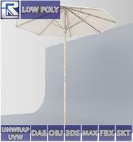 Langholmen Ikea Outdoor Umbrella Low Poly VR AR VR AR low-poly VR / AR / low-poly 3D model