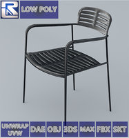 mall chair 10 colors 3D model