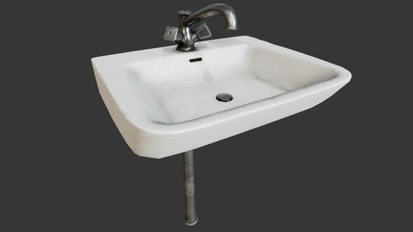 sink pbr faucet decoration 3D model