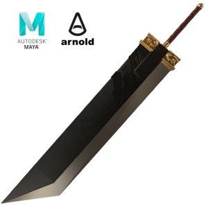 3D buster sword final fantasy