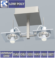 3D double-bolt metal ceiling lamp
