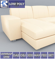 3D leather sofa kivik ikea