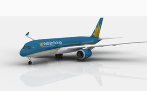 3D airbus a350 vietnam airlines model