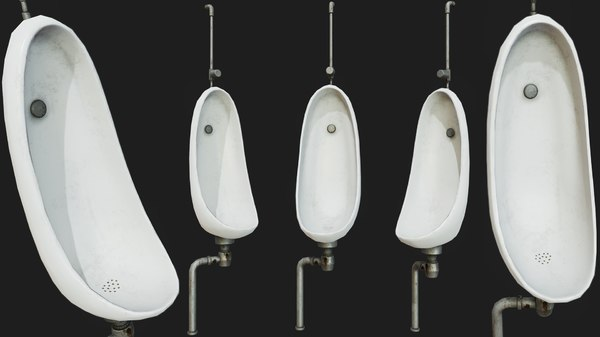 pissoir pbr urinal decoration model