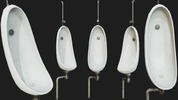 pissoir pbr urinal decoration model