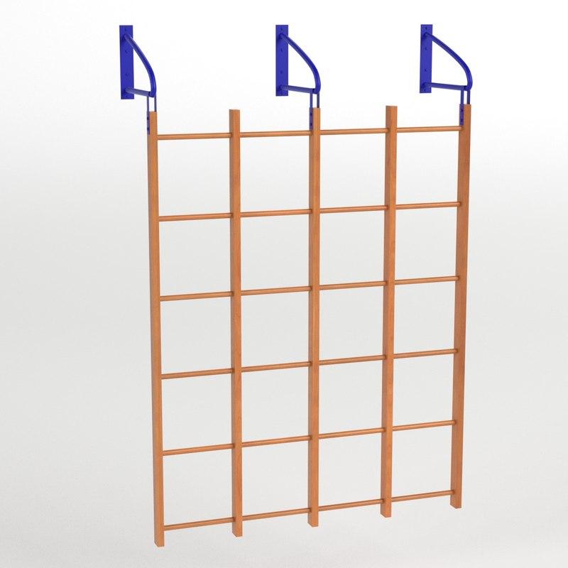 3D model runged wall bars