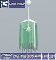 green glass lamp fr 3D