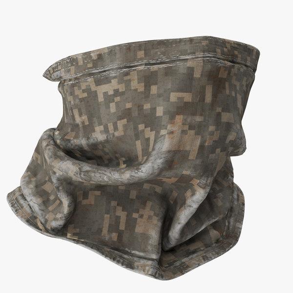 3D bandana khaki 01