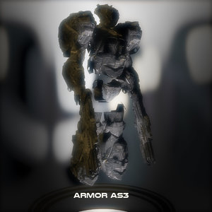 armor sci fi 3D