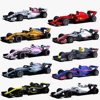 3D formula 2018 cars 1