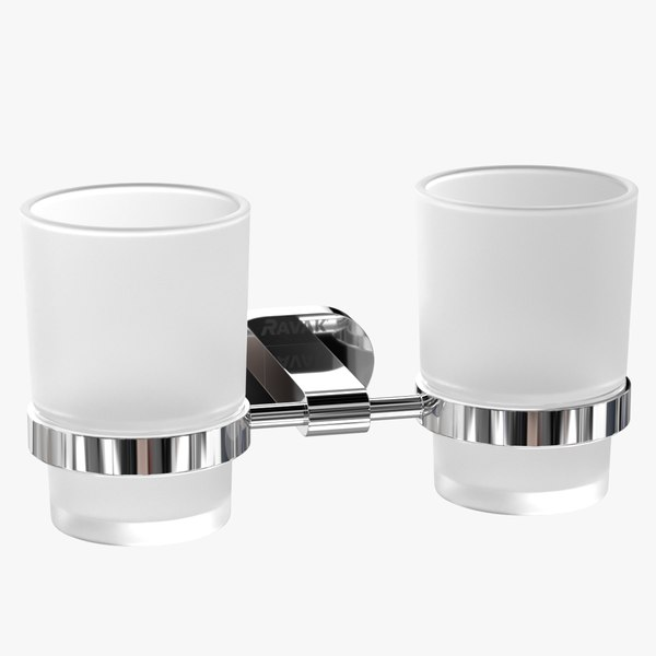 realistic double cups holder 3D model
