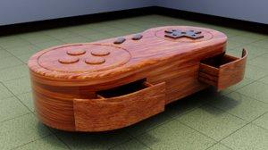 3D joystick table model