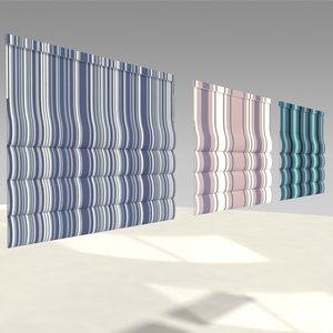 roman shades 3D