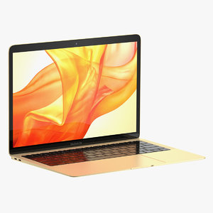 3D model macbook air 2018